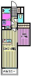 ルミエールuII[2階]の間取り
