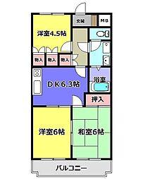 パークハイツ蔵屋敷[1階]の間取り