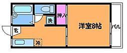 ベルゾーネ調布[1階]の間取り