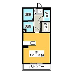 三重県四日市市松寺2丁目の賃貸マンションの間取り