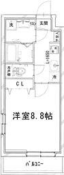 (仮称)四谷サンコーマンション 2階1Kの間取り