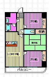 SGKマンションパピオール[301号室]の間取り