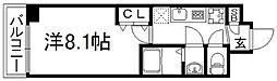 京都府京都市下京区万里小路町の賃貸マンションの間取り