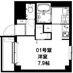 CASADIA Fujisaki[101号室]の間取り