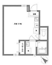 千葉県流山市向小金2の賃貸アパートの間取り