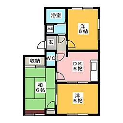 エスポワール豊岡[1階]の間取り