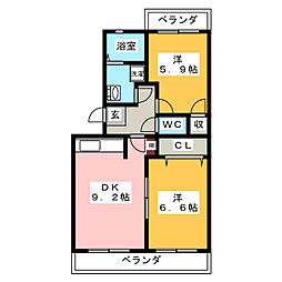 アンシャンテI[2階]の間取り