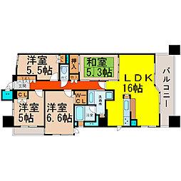 愛知県名古屋市中区丸の内3丁目の賃貸マンションの間取り