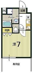 noa東寺駅(ノア東寺駅) 1階1Kの間取り