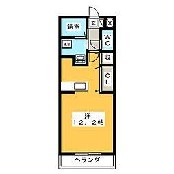 コーポかごめ[3階]の間取り