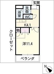 浄水STマンション[4階]の間取り
