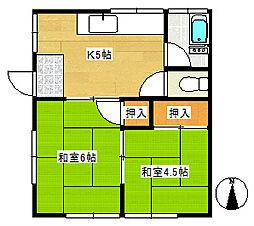 石橋荘[1階]の間取り