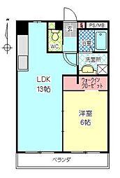 カーサいづみ[402号室]の間取り