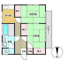 長門荘[2階]の間取り