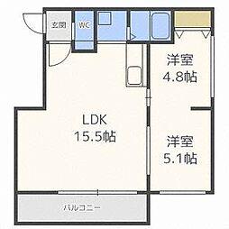 パークサイド栄通[4階]の間取り
