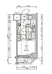 JR総武線 錦糸町駅 徒歩15分の賃貸マンション 2階1Kの間取り