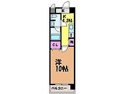 愛媛県松山市北藤原町の賃貸マンションの間取り