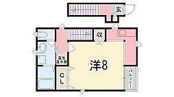 兵庫県姫路市八代東光寺町の賃貸アパートの間取り