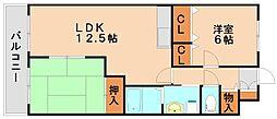 アルファハイツ春日Ⅱ[5階]の間取り