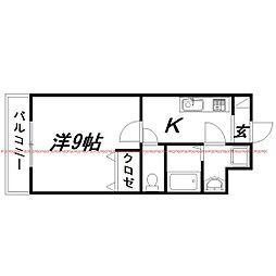 静岡県浜松市中区山下町の賃貸マンションの間取り