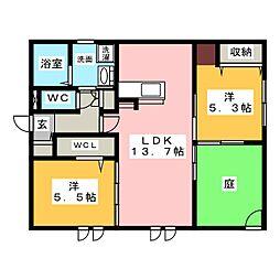 新築AVANTAGE[1階]の間取り