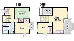 [テラスハウス] 兵庫県加東市下滝野1丁目 の賃貸【兵庫県 / 加東市】の間取り