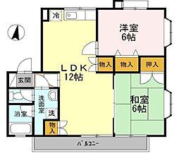 ラフィ−ネ参番館[2階]の間取り