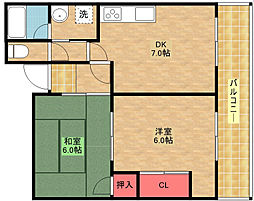 ロイヤルカトレア[3階]の間取り