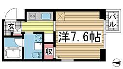 兵庫県神戸市須磨区須磨浦通4丁目の賃貸マンションの間取り