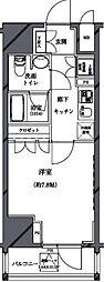 セジョリ北新宿 7階1Kの間取り