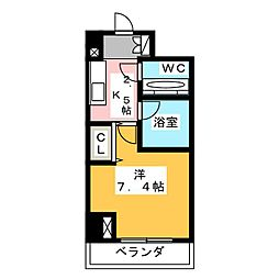 HF愛宕橋レジデンス[4階]の間取り