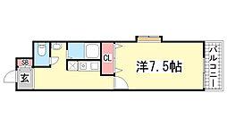 フラッツ庄山[3F号室]の間取り