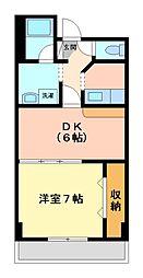 神奈川県川崎市高津区北見方2丁目の賃貸マンションの間取り