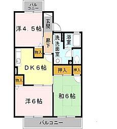 グランディール福田[2階]の間取り