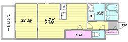CLUB博多駅南レジデンス[605号室]の間取り