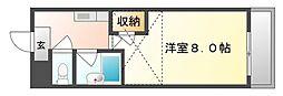 岡山県倉敷市羽島の賃貸マンションの間取り