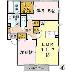 プランドールセレナ B棟[2階]の間取り