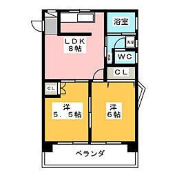 第2ロジィングス天野屋[11階]の間取り