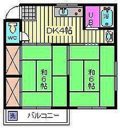 第1小島コーポ[201号室]の間取り