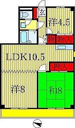 パークハイツ稲越[3階]の間取り