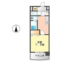 サンシティ栄生[703号室]の間取り