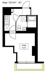 Bel Canto 浅草蔵前[8階]の間取り