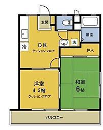 メゾンドール新井A棟[203号室]の間取り