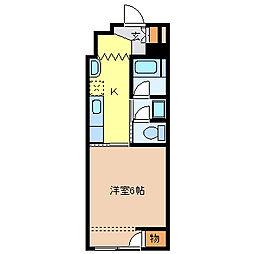 コーポ童子[7階]の間取り