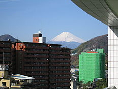 バルコニーから富士山