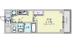 Osaka Metro御堂筋線 江坂駅 徒歩7分の賃貸マンション 10階1Kの間取り