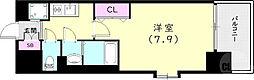 神戸市西神・山手線 上沢駅 徒歩3分の賃貸マンション 10階1Kの間取り