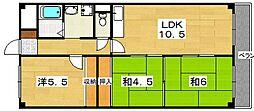 枚方壱番館[2階]の間取り