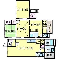[一戸建] 大阪府八尾市山本高安町2丁目 の賃貸【/】の間取り