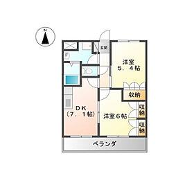 ヴューテラス藍住[105号室]の間取り